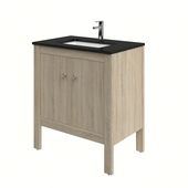 Heros badkamermeubel staand met wastafel rechthoekig grijs eiken 80 cm