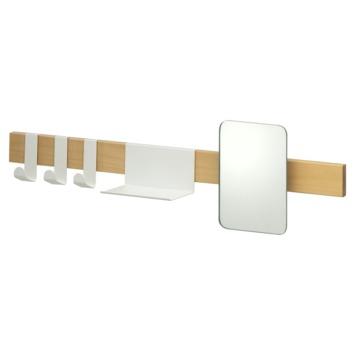 Sealskin kapstok met spiegel Brix wit