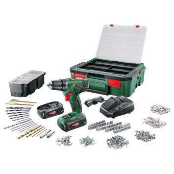 Bosch accuboormachine PSR1800 systembox met 2 accu's en lader