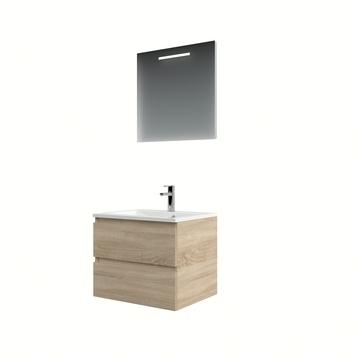 Meuble de salle de bains avec miroir Cadiza Bruynzeel 60 cm bardolino