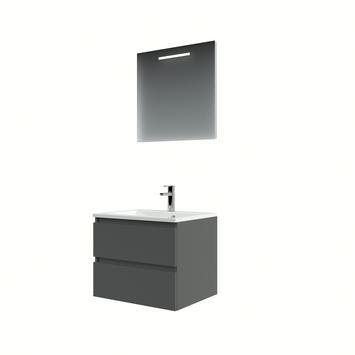 Bruynzeel Cadiza badkamermeubelset 60 cm grafiet met spiegel