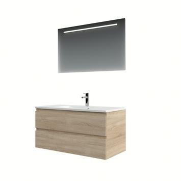 Bruynzeel Cadiza badkamermeubelset 100cm bardolino met spiegel