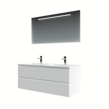 Bruynzeel Cadiza badkamermeubelset 120 cm mat wit met spiegel