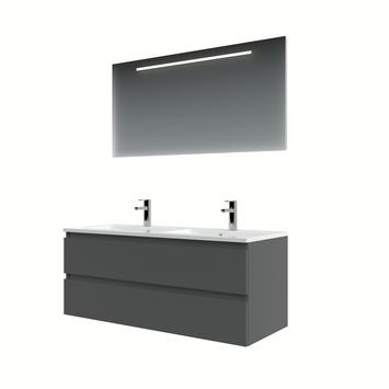 Bruynzeel Cadiza badkamermeubelset 120cm grafiet met spiegel