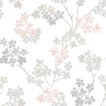 Vliesbehang Bloesem roze 2258-80