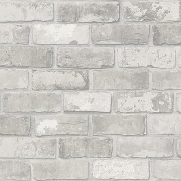vtwonen Vliesbehang Stenen lichtgrijs 2234-04