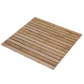 Dalle de jardin en bois dur 100x100 cm