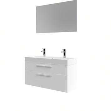 Set de meuble de salle de bains Zelda Bruynzeel avec miroir 100 cm blanc