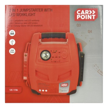 Aide au démarrage Carpoint avec lampe de travail LED 12V/7Ah