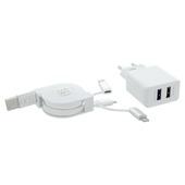 Câble chargeur enrouleur 3 en 1 Q-Link