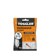 Toggler hollewandplug 26 x 8mm wit 6 stuks