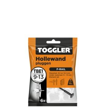 Cheville mur creux Toggler TBE-6 9-13 mm 6 pièces