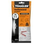 Toggler hollewandplug TA-20 3-6 mm 20 stuks