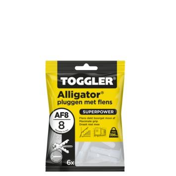 Toggler alligatorplug met flens AF8 8 mm 6 stuks