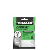 Toggler alligatorplug A6 6 mm 6 stuks