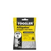 Toggler alligatorplug met flens AF6 6 mm 20 stuks