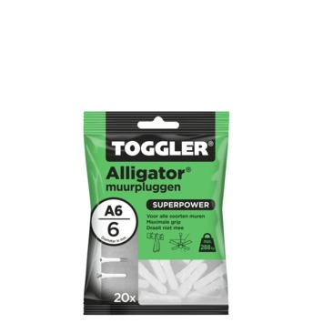 Toggler alligatorplug A6 6 mm 20 stuks