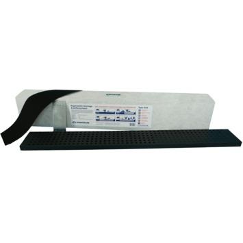 Set bloc de drainage et grille noire D34 Hydroblob 120x15x20 cm 34 litres