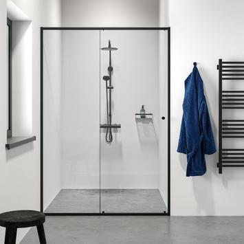 Porte coulissante pour niche Contour 140x200 cm noir