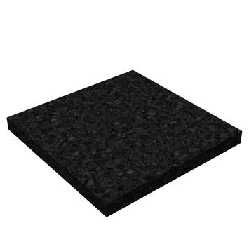 Dalle en caoutchouc 62,5x62,5x0,4 cm 5 pièces