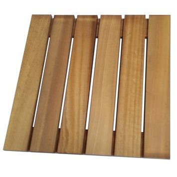 Dalle de jardin en bois dur 60x60 cm