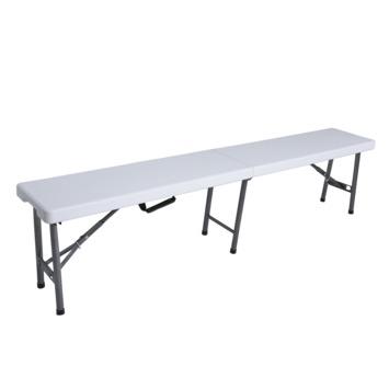 Picknickbank kunststof wit 183x25x44 cm (exclusief tafel)