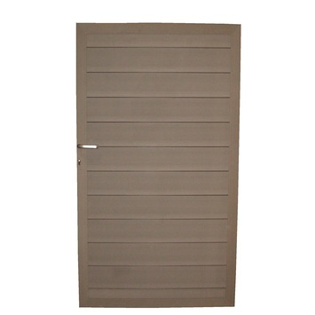 Plastivan poort duofuse houtcomposiet 100x180 cm stone grey