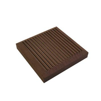 Duofuse afdekkap HKC Kunststof tropical brown 11x11x1,7 cm