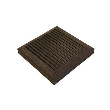 Coiffe pour poteau bois composite Duofuse 11x11x1,7 cm graphite black