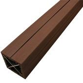 Poteau en bois composite Duofuse 9x9x270 cm tropical brown