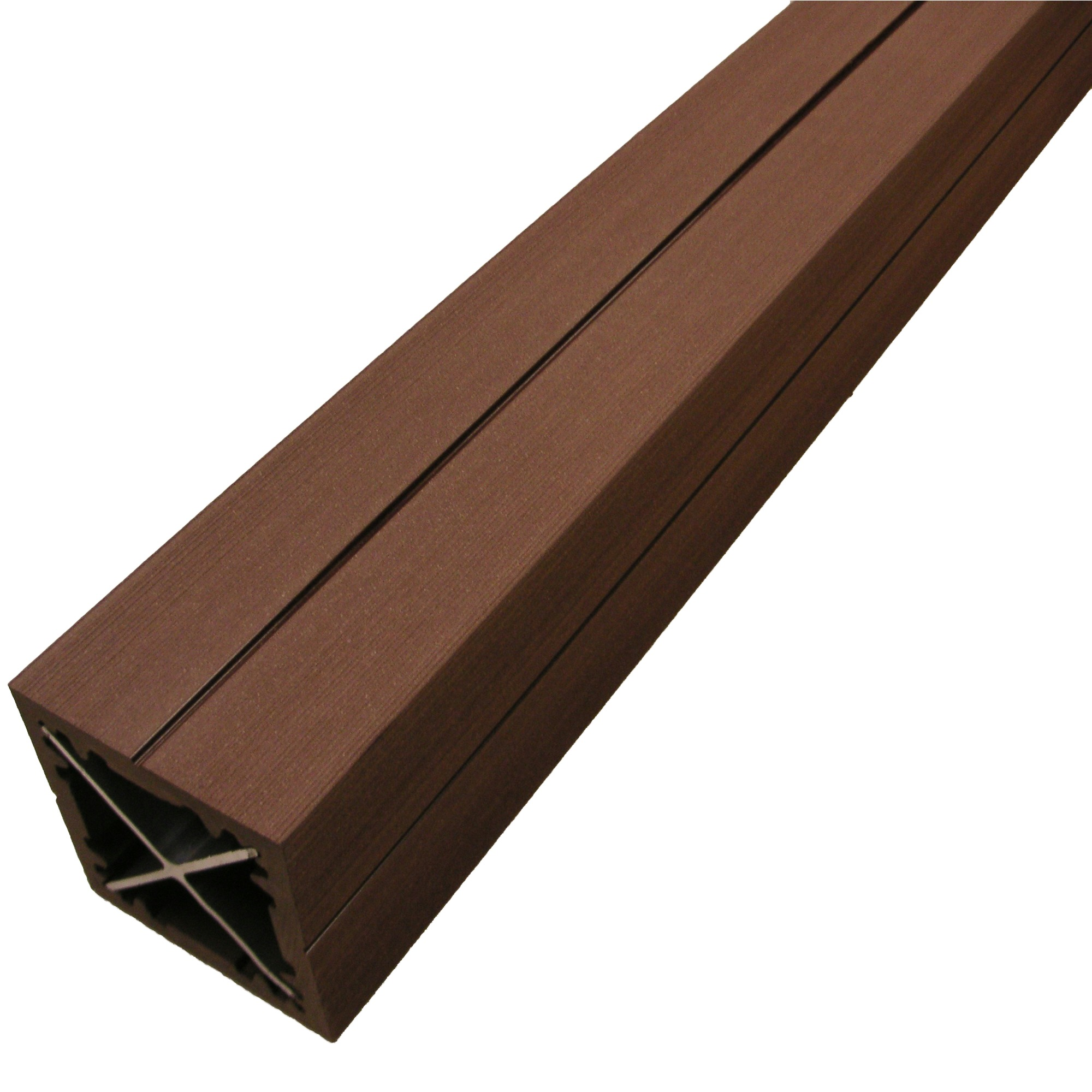Poteau en bois composite duofuse 9x9x270 cm tropical brown - Poteau cloture bois ...