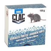 Clac céréales forte anti-rats & souris 6x25g