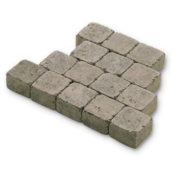 Kasseien Beton Getrommeld Grijs 10x10x6 cm - 924 Stuks / 9,24 m2