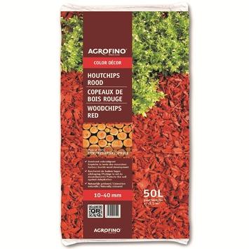 Agrofino bodembedekker houtchips rood 50 L