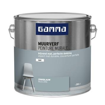GAMMA muurverf mat zinkblauw 2,5 L