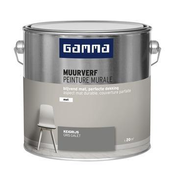 GAMMA muurverf keigrijs mat 2,5 liter