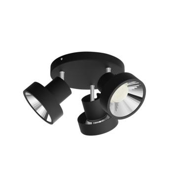 Philips opbouwspot Bukko 3-lichts zwart