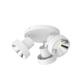 Philips opbouwspot Bukko 3-lichts wit