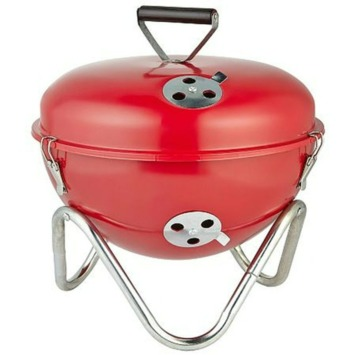Houtskoolbarbecue rood