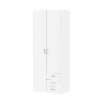 Kleerkast Ivet 2-deurs wit