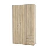 Garderobekast Ivet 3-deurs licht eiken