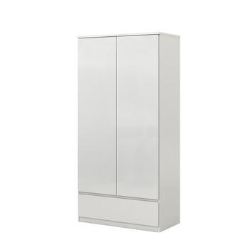 Garderobekast Nevada 2-deurs hoogglans wit