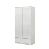 Garderobekast Neveda 2-deurs hoogglans wit