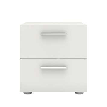 Table de nuit Pisa 2 tiroirs blanc