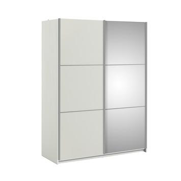 Schuifdeurkast Janneke wit 150 cm met spiegel