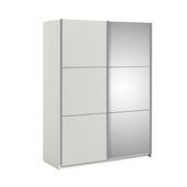 Garderobekast Janneke wit 150 cm met spiegel