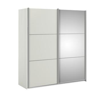 Schuifdeurkast Janneke wit 180 cm met spiegel