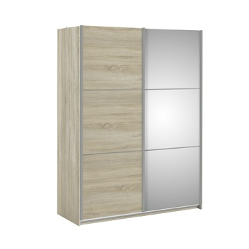 Garderobekast Janneke lichteiken met spiegel 180cm