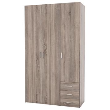 Kleerkast Ivet 3-deurs truffel