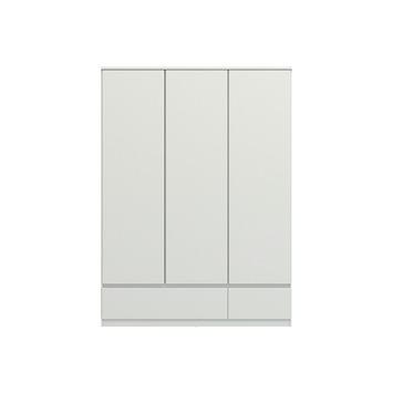 Garderobekast Nevada 3-deurs hoogglans wit